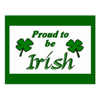 Shamrocks Irish Postcard