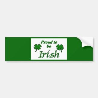 Shamrocks Irish Pride Car Bumper Sticker
