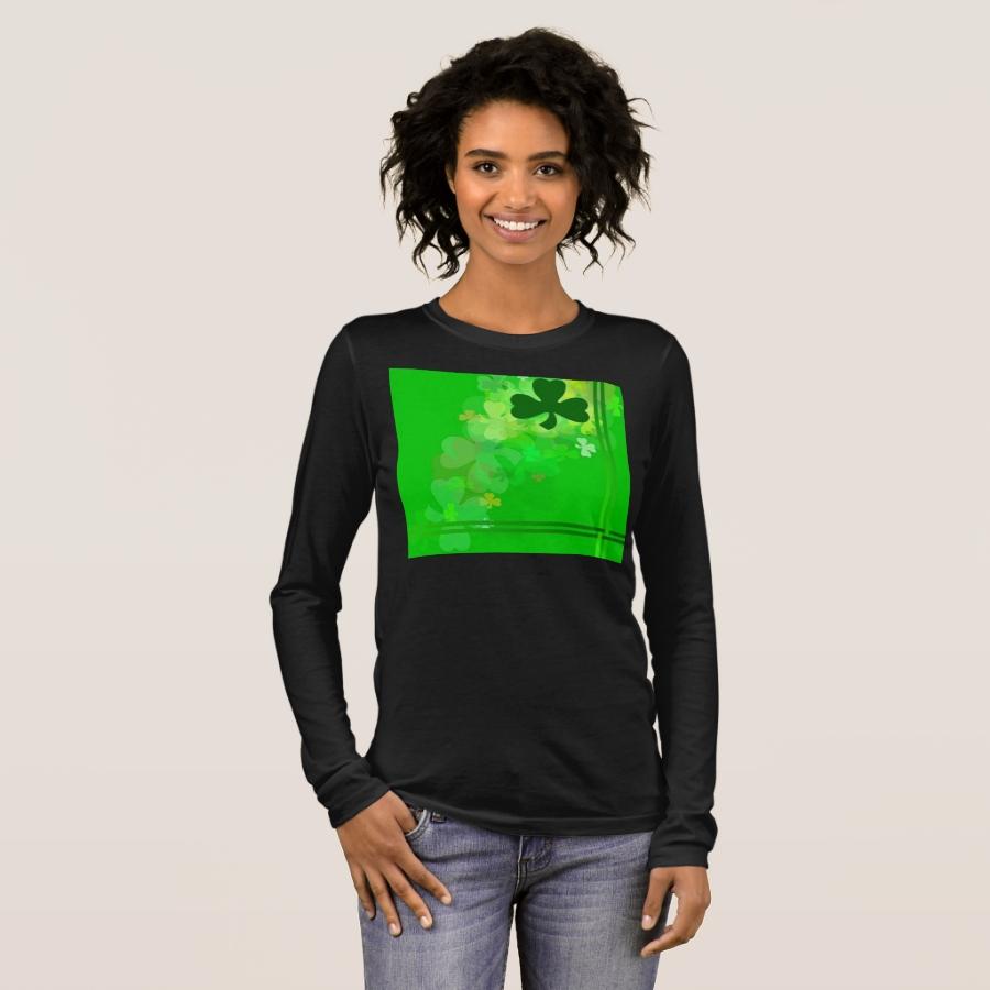Shamrocks Long Sleeve T-Shirt - Best Selling Long-Sleeve Street Fashion Shirt Designs