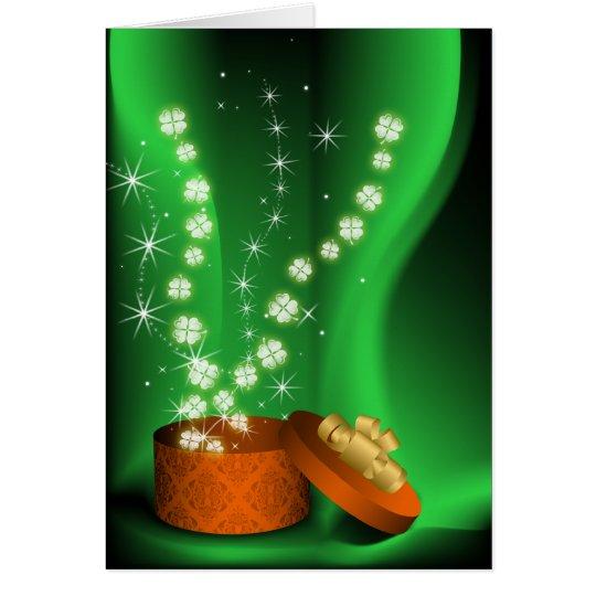 shamrocks magical St Patrick's day card