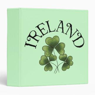 Shamrocks Of Ireland 3 Ring Binder