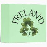 Shamrocks Of Ireland Binder