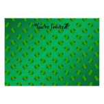 Shamrocks on green background personalized announcements