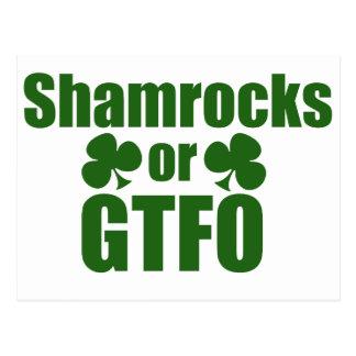 Shamrocks or GTFO St. Patricks Day Postcard