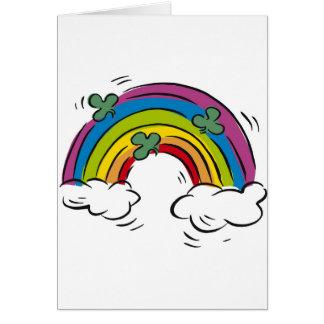 Shamrocks over the Rainbow Card