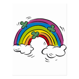 Shamrocks over the Rainbow Postcard