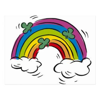 Shamrocks over the Rainbow Postcard