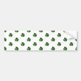 Shamrocks Pattern Bumper Sticker