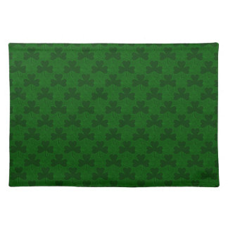 Shamrocks Pattern Cloth Placemat