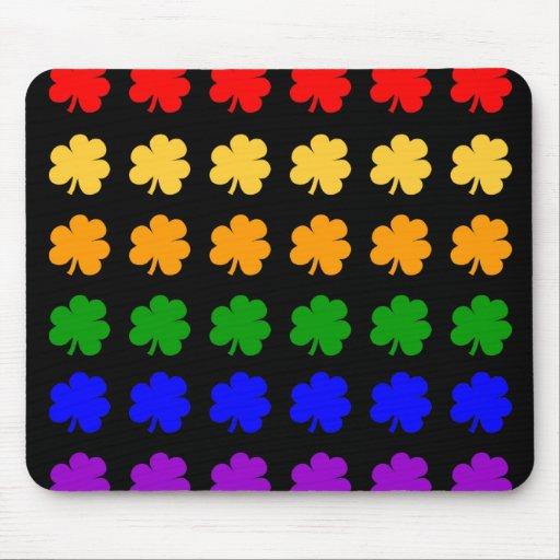 Shamrocks Rainbow Mouse Pad
