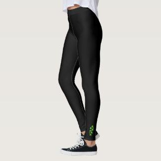 Shamrocks: Simple Black Ankle Art Collection Leggings