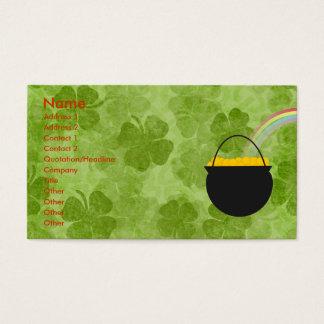 Shamrocks St. Patrick's Day Business Cards
