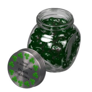 Shamrocks St Patrick's Day Jelly Belly Glass Jar