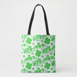 Shamrocks Tattoo seamless pattern + your ideas Tote Bag