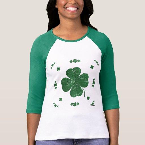 Shamrocks - vintage style t shirt