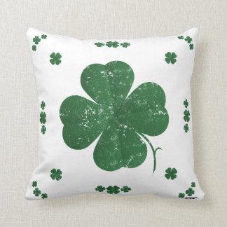 Shamrocks - vintage style throw pillow