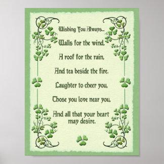 Shamrocks Wishing You Always... Poster