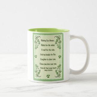Shamrocks Wishing You Two-Tone Coffee Mug