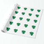 Shamrocks - wrapping paper