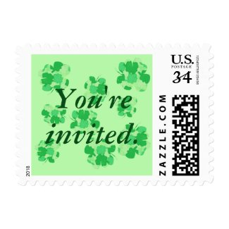Shamrocks You're Invited Postage Stamps