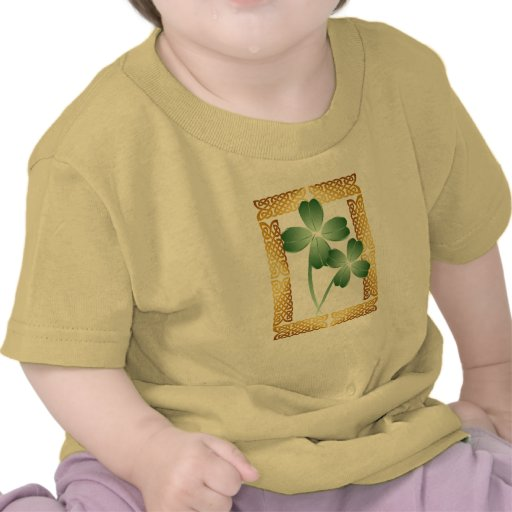 ShamrocksTrans enmarcado oro Camisetas