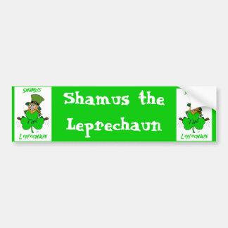 Shamus el Leprechaun Pegatina De Parachoque