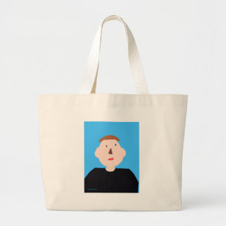 Shamus Portrait Large Tote Bag