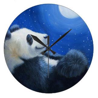 Shan del Tai debajo de la luna Reloj Redondo Grande