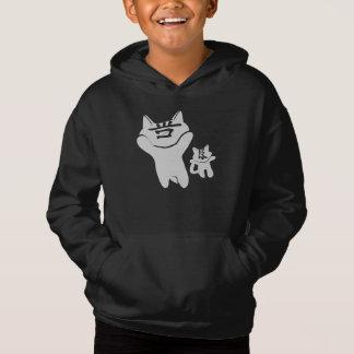SHAN LIANG CAT BLACK SWEATSHIRT