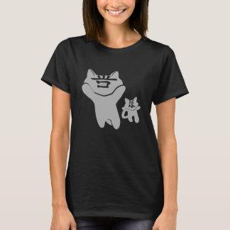 SHAN LIANG CAT BLACK T-SHIRT