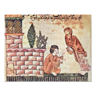 """Shana"""" """"L Bayader entrega una letra de Riad, Invitación 10,8 X 13,9 Cm"""