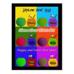 Shana Tova - Apple, Honey & Bee Cute Pop Art Style Post Card