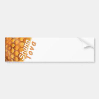 Shana-Tova Honeycomb Happy New Year Bumper Sticker