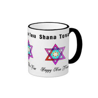 Shana Tova Jewish Star Ringer Mug