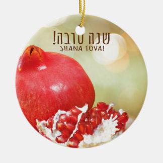 Shana Tova Rosh Hashanah Jewish New Year Ceramic Ornament