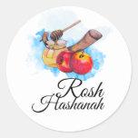 Shana Tova / Rosh Hashanah Pegatina Redonda