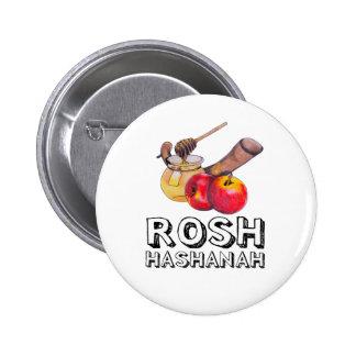 Shana Tova / Rosh Hashanah Pin Redondo De 2 Pulgadas