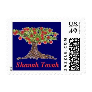 Shanah Tovah Apple Tree Stamp