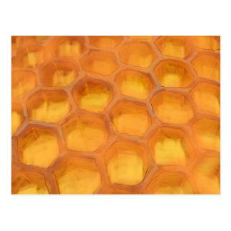 Shanah Tovah Honeycomb drawing Happy Rosh Hashanah Postcard