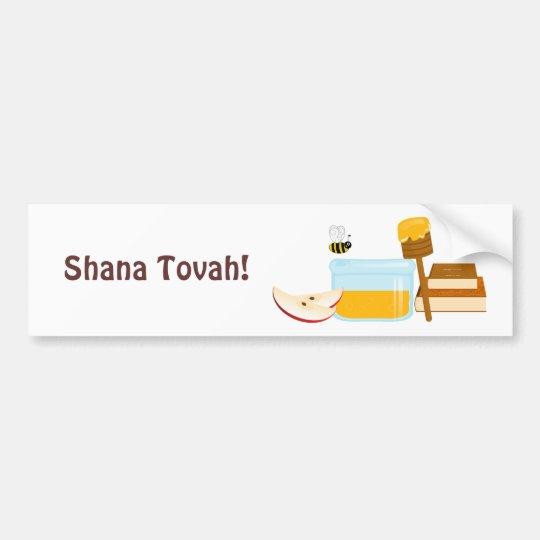 Shanah Tovah Rosh Hashanah Jewish New Year Bumper Sticker