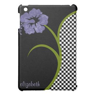 Shandra caso del iPad floral y del tablero de dama