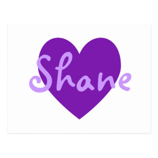 Shane in Purple Postcard
