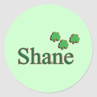 Shane Mens Name Classic Round Sticker