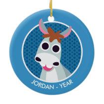 Shane the Donkey Ceramic Ornament