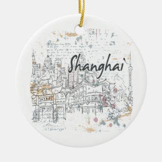 Shangai Adorno Navideño Redondo De Cerámica