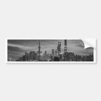 Shangai blanco y negro pegatina para auto