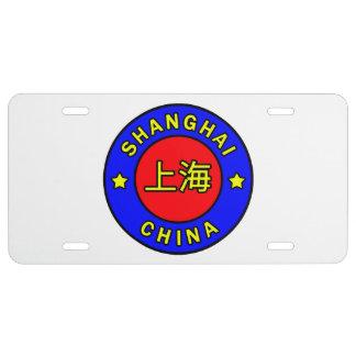 Shangai China Placa De Matrícula