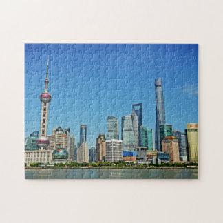 Shangai, China - visión desde la Federación Puzzle Con Fotos