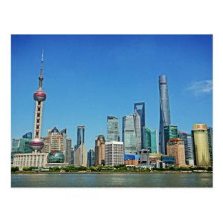 Shangai, China - visión desde la Federación Tarjeta Postal
