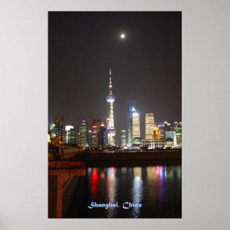 Shangai en la noche impresiones